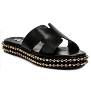 Cape Robbin RUSH Flat Sandals Black Color